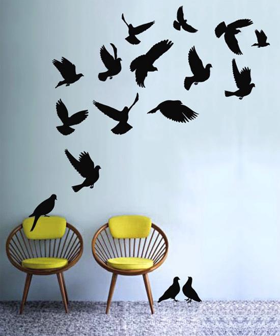 Birds Flying Wall Art