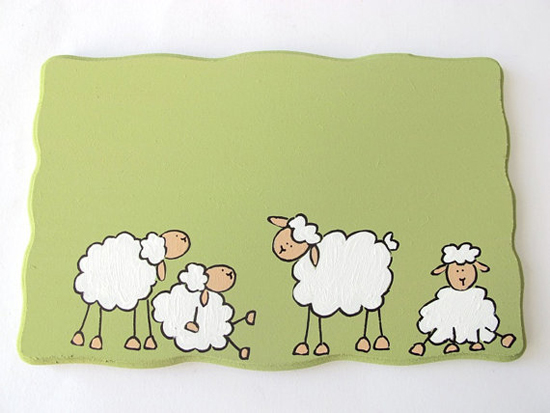 Personalized Sheep door sign by Shellyka