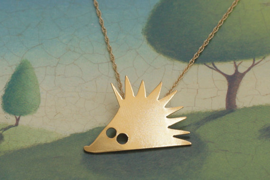 Porcupine Necklace by meytalbarnoy