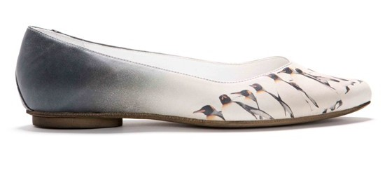 Penguins printed leather shoes