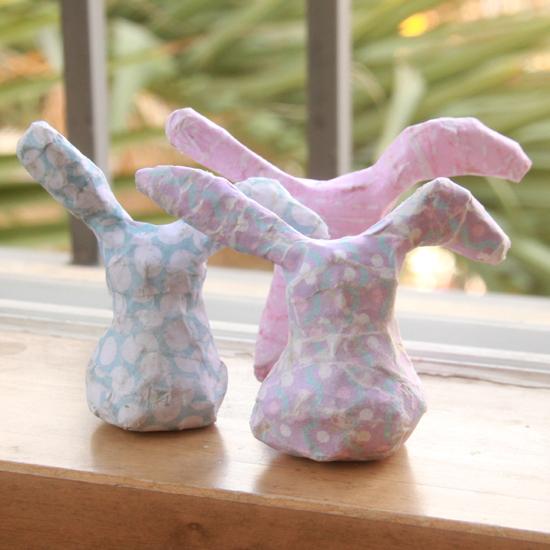 Diy paper mache bunnies world of pineapple for Buy paper mache glue