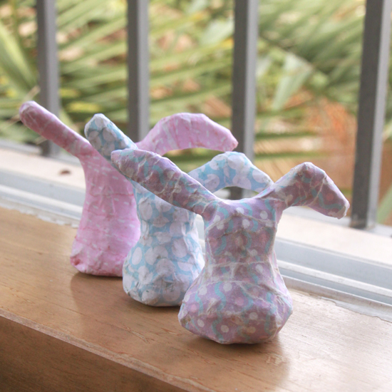 How to make paper mache Easter Bunnies