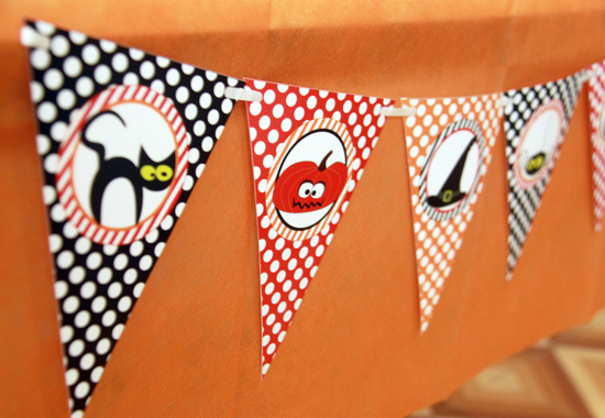 Halloween Printable Pennant Flags by Pixiebear