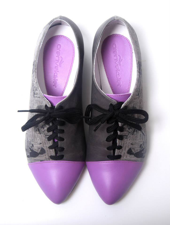 Printed Leather Shoes by Oren Veksler