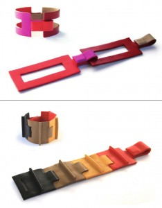 Modular Leather Bracelet by Camille Roussel