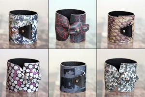 Modular Printed Leather Cuffs