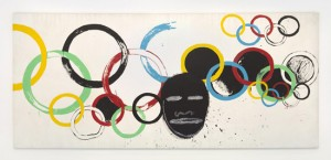 Olympic Rings Painting by Jean-Michel Basquiat and Andy Warhol
