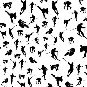 Olympic Silhouettes Pattern Design