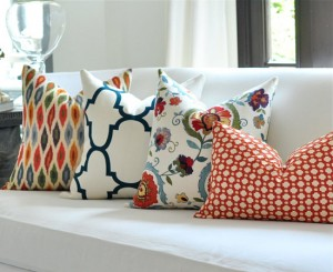 Patterned pillows by woodyliana