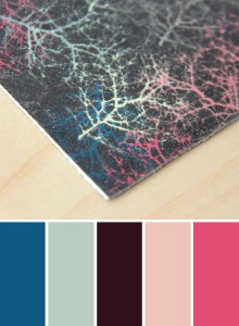 Colorful Abstract print on leather