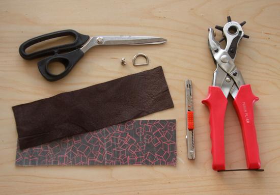 DIY printed leather cuff