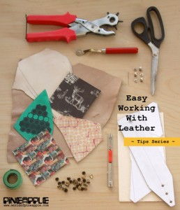 Simple tips for leather craft