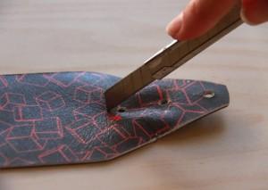 modular printed leather cuff