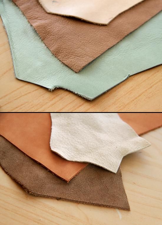 Porous Top-Grain leather vs. velvety Suede, Split and Nubuck.