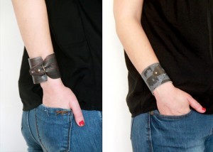 DIY modular printed leather cuff