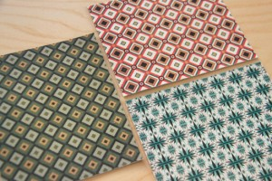 vintage floor pattern designs printed on leather