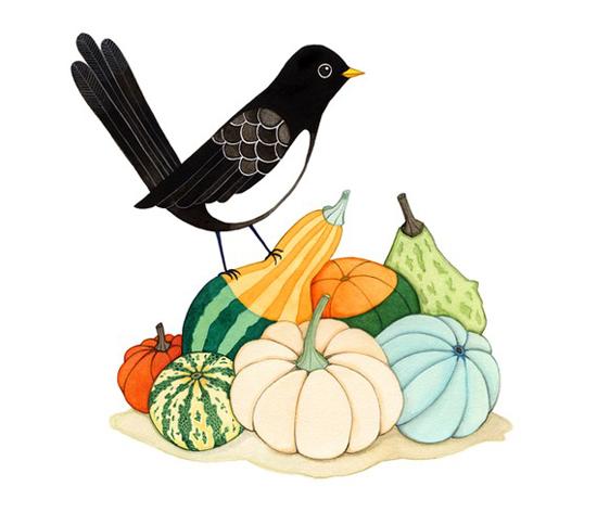 Pumpkin inspired art print