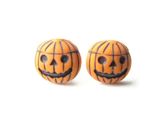Pumpkin inspired earrings
