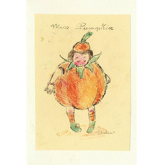 Pumpkin Illustrated Card