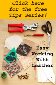 Simple tips and tricks for working with leather