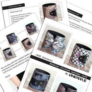 PDF Sewing Pattern of a Modular Printed Leather Cuff