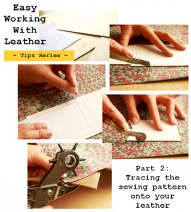 How to easily trace a sewing pattern onto leather
