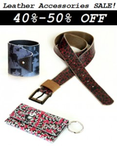 Printed Leather Gadgets SALE