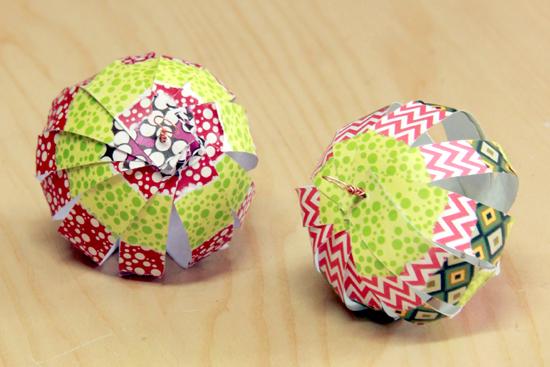 Paper fan balls DIY tutorial