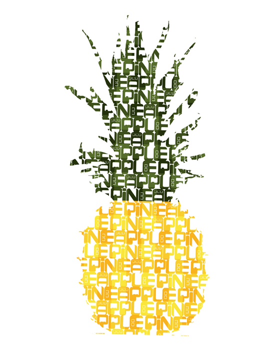 pineapple art by worldofpineapple