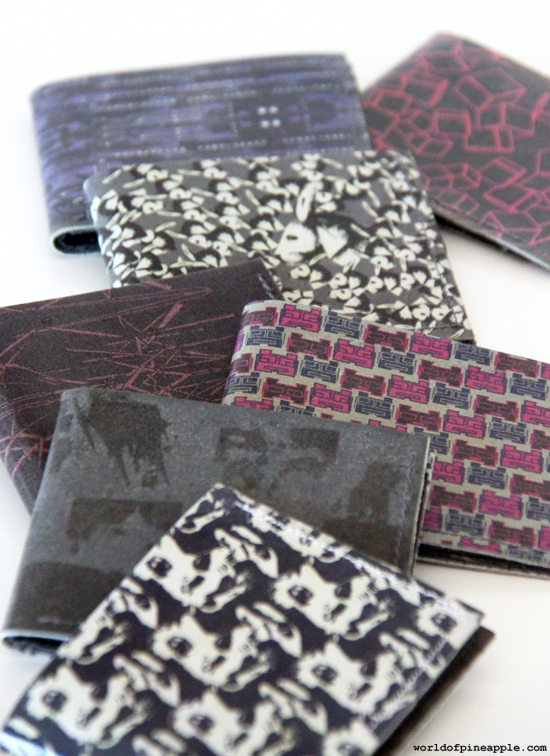 making a printed leather wallet