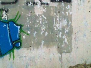 Paint peel on wall
