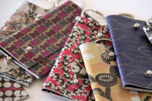 Printed leather coin purses