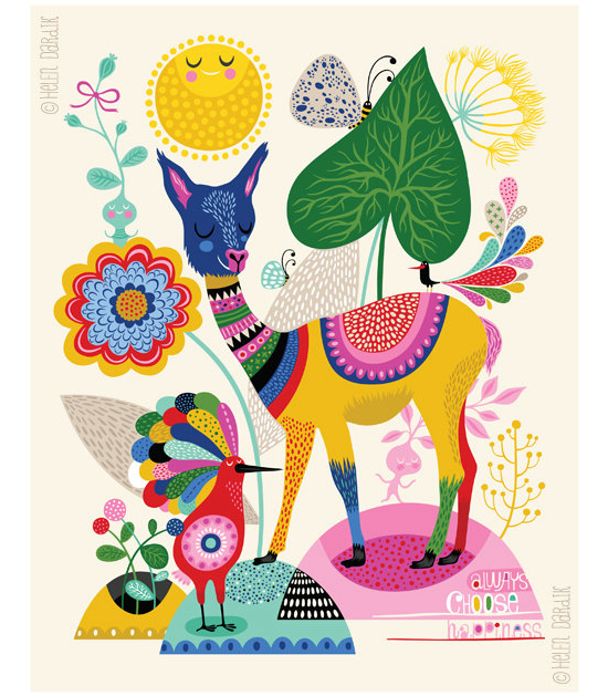 Llama Happiness by Helen Dardik