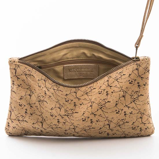 Printed Leather Clutch by Meckela