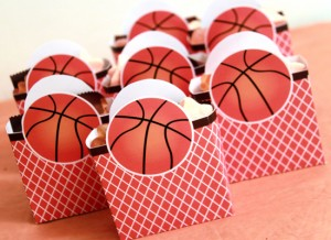 Basketball Birthday Favor Boxes by Pixiebear