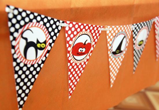 Halloween Printable Pennant Flags by Pixiebear
