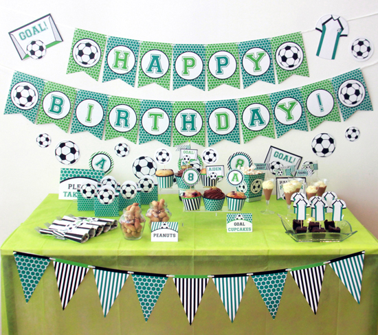 Soccer Party Decorations by Pixiebear