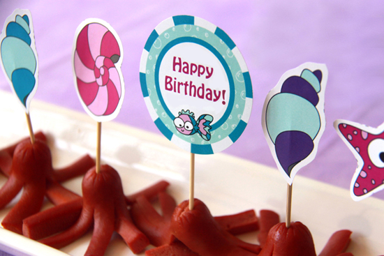 Under the Sea Mermaid Birthday Decorations by Pixiebear