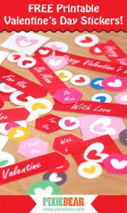 Pixiebear Valentines Day Personalized Stickers - Freebie